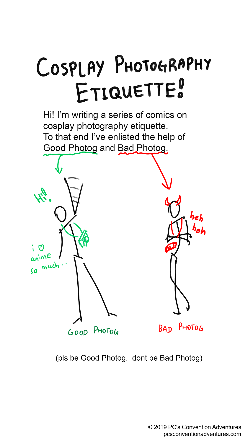 Cosplay Photographer Etiquette Page 1