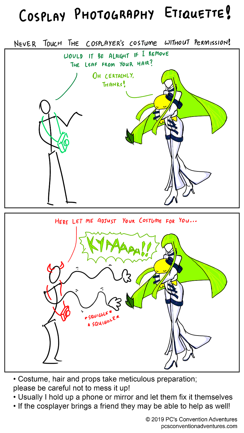 Cosplay Photographer Etiquette Page 5